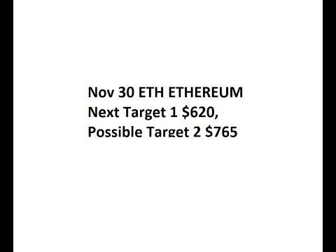 Nov 30 ETH ETHEREUM   Next Target 1 $620, Possible Target 2 $765