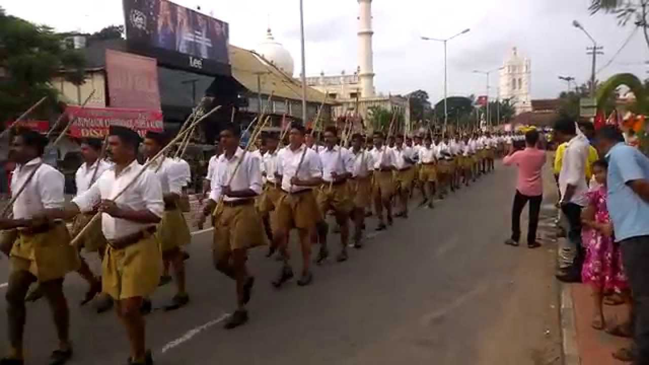 Rss Route March 2014 Trivandrum Kerala  Youtube