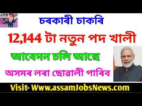 Latest Government Jobs Update 2019// Totel 12,144 Posts// Apply Online In Male Female All Candidates