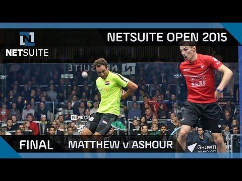 Squash: NetSuite Open 2015 Final Highlights - Matthew v Ashour