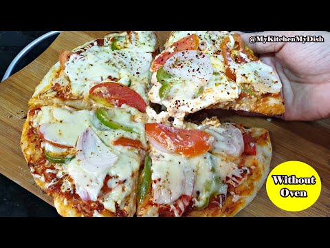 Dominos Style Pan Pizza | Pizza Mania Recipe Without Oven | My Kitchen My Dish