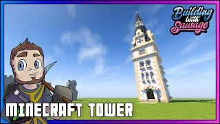 Minecraft - Building with Sausage - Minecraft Tower [Tutorial]