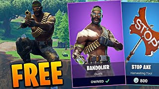 Bandolier Skin with frozen back bling!!!!! (Random combo) Fortnite Battle Royale gameplay