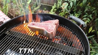Grilled Porterhouse SteakSlow N Sear Weber Kettle BBQ Accessory Review