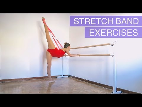 STRETCH BAND EXERCISES - How To Get Flexible! |movedancewear.com AD| Natalie Danza
