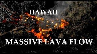 1/21/2015 -- MASSIVE new lava flow in Hawaii -- Kilauea / Pu