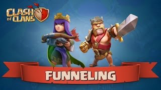 Funneling 101 -- How to Funnel your Troops in Clash of Clans