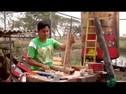 Basurarte 008 construyendo una escalera youtube for Como hacer una escalera de madera