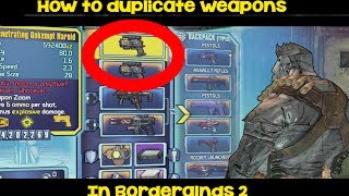 How to duplicate weapons in Borderlands 2 EASY! W/JDYO!