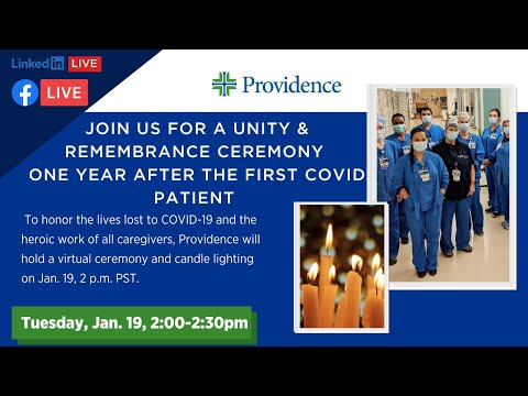 Providence COVID-19 Unity & Remembrance Ceremony