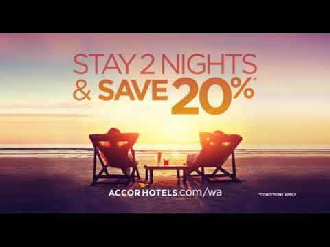 Accord Hotels - Stay 2 nights save 20% - Media Today TV Advertising Perth