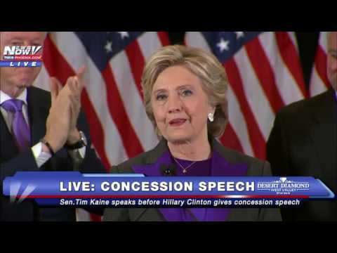 "IT'S OVER: Hillary Clinton Gives Concession Speech, Describes 2016 Election Loss as ""Painful"" FNN"