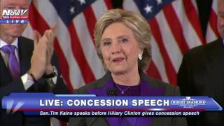 """IT'S OVER: Hillary Clinton Gives Concession Speech, Describes 2016 Election Loss as """"Painful"""" FNN"""