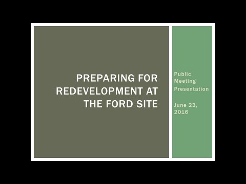 Ford Site Community Meeting - 6/23/16