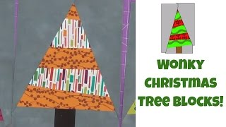 how to make wonky christmas tree quilt blocks easy quilting tutorial with leah day