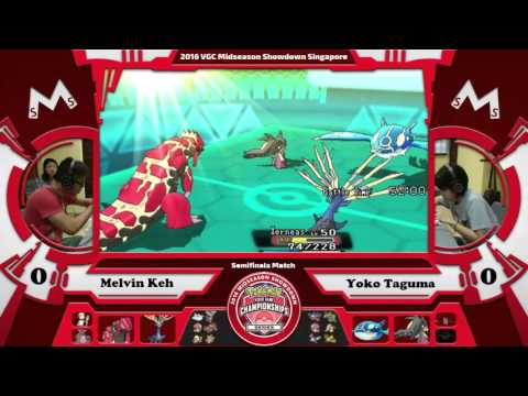 VGC16 Midseason Showdown Semifinals Match A: Yoko Taguma vs Melvin Keh