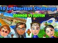 [MKWii] Justin vs Connor - 10 Level Shortcut Challenge