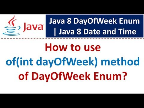 How to use of(int dayOfWeek) method of DayOfWeek Enum