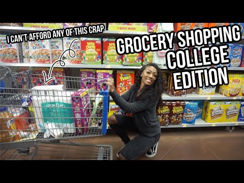 GROCERY SHOPPING: broke college student edition lol