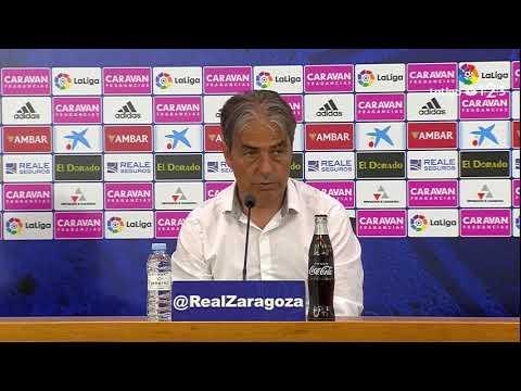 Rueda de prensa de Natxo González tras el Real Zaragoza vs Albacete Balompié (4-1)