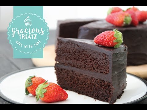 Eggless Moist Chocolate Cake Recipe