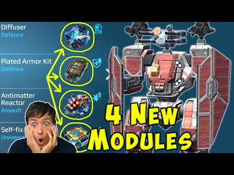 4 NEW Titan Modules? War Robots [5.7] Test Server Gameplay WR
