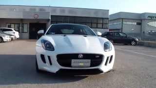 jaguar f type coup 3 0 s v6 s c 380 cv polaris white jaguar ravenna 0544 502465