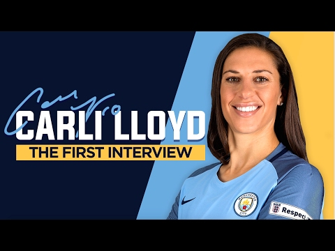 CARLI LLOYD SIGNS FOR MAN CITY WOMEN | Exclusive First Interview