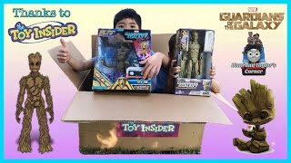 Guardians of the Galaxy Rock n Roll Groot Growing Groot The Toy Insider | Liam and Taylor's Corner
