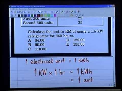 E Tuisyen Physics How To Calculate Electricity Bill Youtube