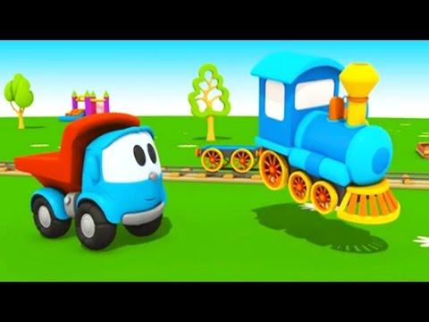 Voller Dampf vorraus! Leo Junior und die Lokomotive - 3D Cartoon für Kinder in deutsch