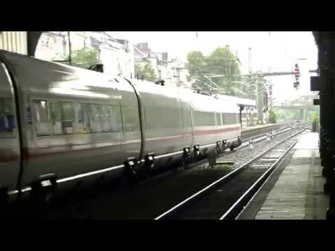 【Deutsche Transport】 ICE train entering Bonn Hauptbahnhof  (00516)
