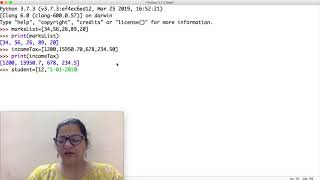 Class 11 IP(065) Lists in Python Part-1 by Meenakshi Mam