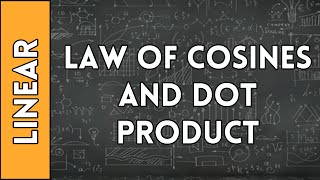 Law of Cosines and Dot Product Relation - Linear Algebra made Easy (2016)