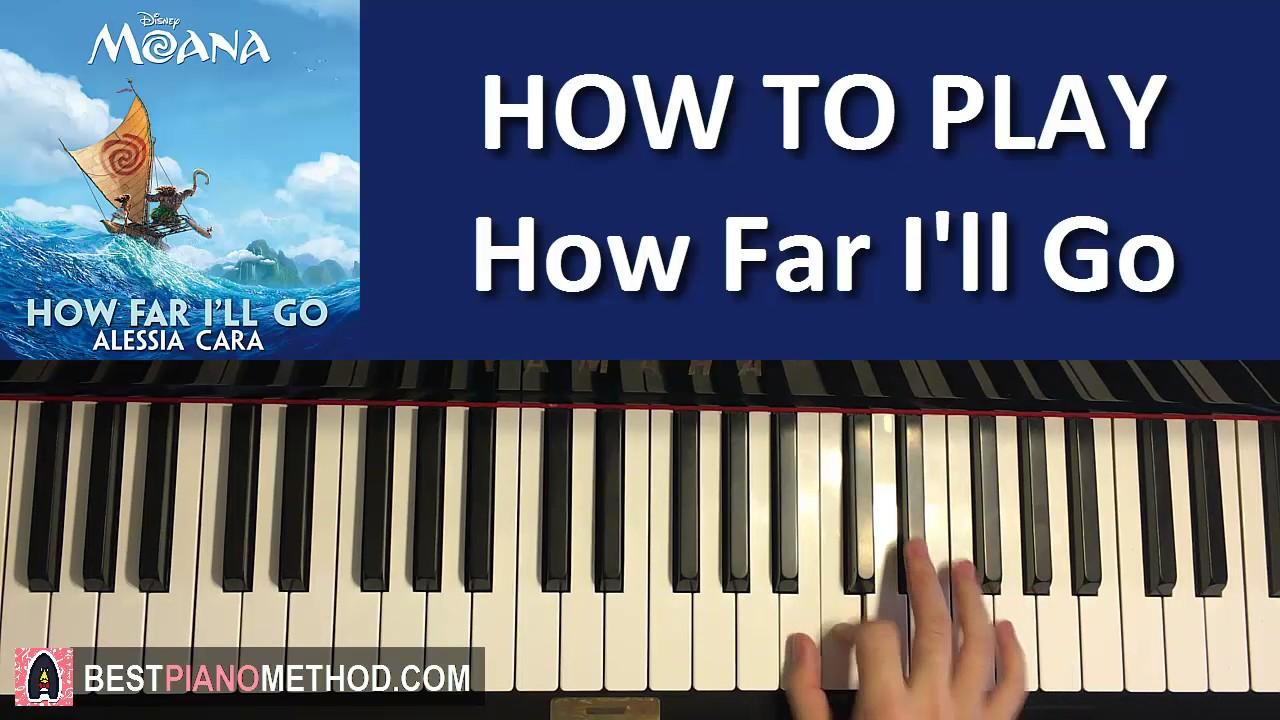 How far i'll go (moana) level 1 easy piano tutorial hoffman.