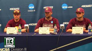 2018 D-III World Series Game 14: Concordia-Chicago postgame