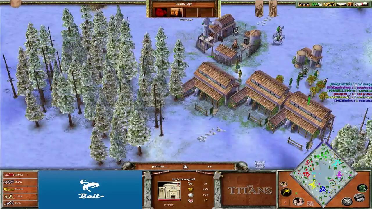 UCA vs DoD - Age of Mythology: The Titans (Hybrid Mod) (Game 4)