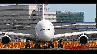 ✈✈世界最大旅客機の離陸 マレーシア航空 (Malaysia Airlines)Airbus A380-841Take-off Narita RWY16R 成田空港