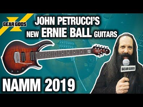 NAMM 2019 - JOHN PETRUCCI'S NEW SIGNATURE ERNIE BALL GUITARS  | GEAR GODS