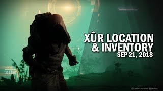 Xur Location & Inventory for 9-21-18 / September 21, 2018 [Destiny 2 Forsaken]