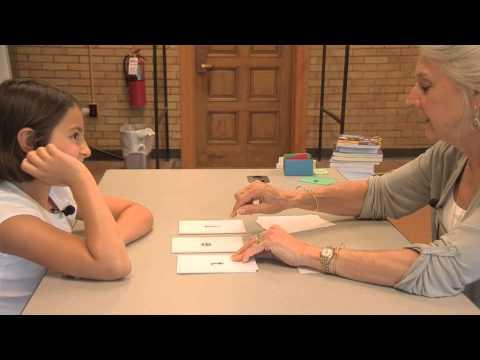 Susan Nolan teaching an Orton Gillingham lesson with a dyslexic child