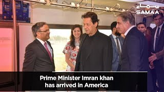 Prime Minister Imran khan has arrived in America