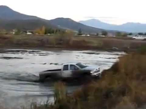 2005 crew cab dodge cummins on 40's in DEEP MUD