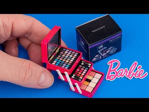 DIY How to make mini makeup kit | DollHouse | Hacks and Crafts for Barbie