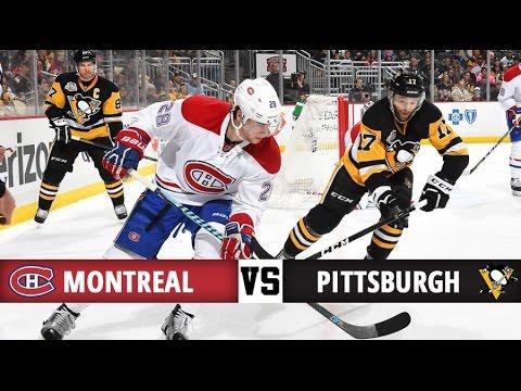 Montreal Canadiens Vs Pittsburgh Penguins Season Game 37