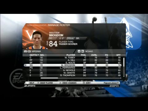 Part 5/5:  How To Transfer NCAA Basketball 10 Custom Rosters To PS3
