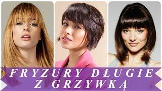 TOP 20 modne fryzury damskie z grzywką 2018