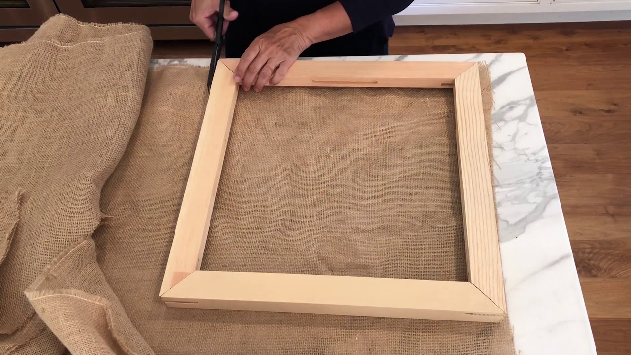 making a needle punch frame from canvas stretcher bars youtube. Black Bedroom Furniture Sets. Home Design Ideas