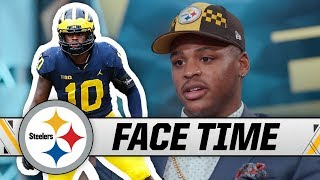 First-round Pick Devin Bush on his Football Family, Draft Experience, New Home   Steelers Face Time