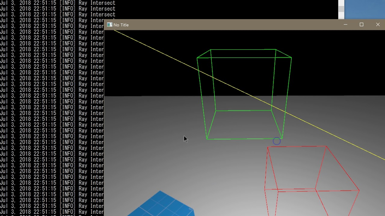 OpenGL AABB Ray intersection